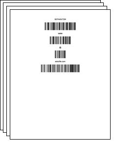 example of bar code containing email address for batch processing