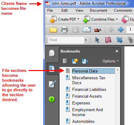 Bookmarked Income Tax File